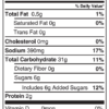 Scratch Mix Nutritional Facts